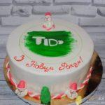 Новорічний торт на корпоратив із сніговиком
