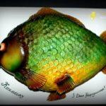 Торт з мастики у формі риби