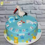 Торт на рочок з метрикою