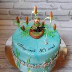 Торт на 50 років для рибака