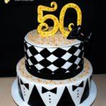 Двоярусний торт смокінг на 50 років