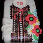Торт вишиванка на 75 років