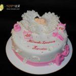 Торт на хрестини дівчинки Кароліни