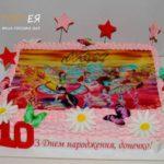 Дитячий торт для дівчинки в стилі winx