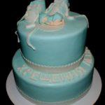 Двоярусний торт на хрещення хлопчика