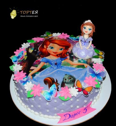 Дитячий торт принцеса Софія для дівчинки