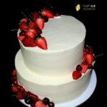 Голий весільний торт з ягодами