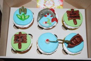 Капкейки для рибака на день народження