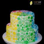 Кольоровий дитячий торт