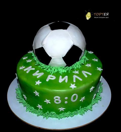 Торт футбольний м'яч на день народження