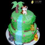 Двоярусний торт на рочок для дівчинки