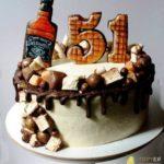 Торт без мастики на 51 рік