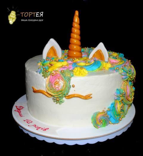 Торт з єдинорогом без мастики
