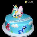 Дитячий торт з єдинорогами