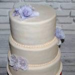 Трьохярусний весільний торт