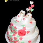 Двоярусний торт для дівчинки