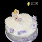 Фіолетовий торт на хрещення