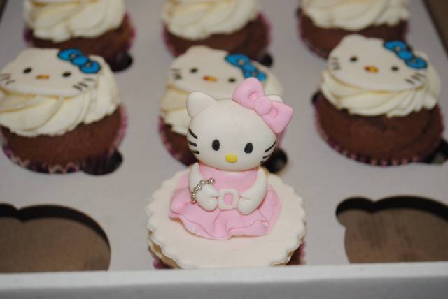 дитячі капкейки hello kitty