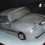 Торт срібна машина