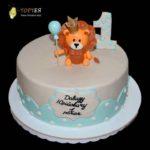 Торт на рочок з левчиком