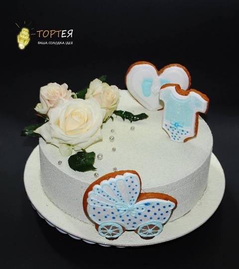 Торт з пряниками на хрестини