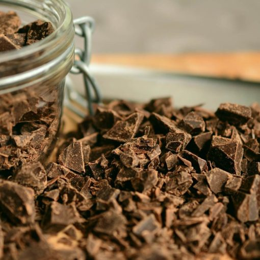 Баночка з крихтами шоколаду