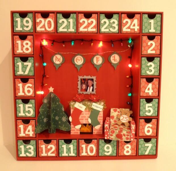 Квадратний Адвент календар з подарунками