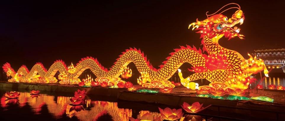 Новорічна прикраса дракон для Китайського нового року