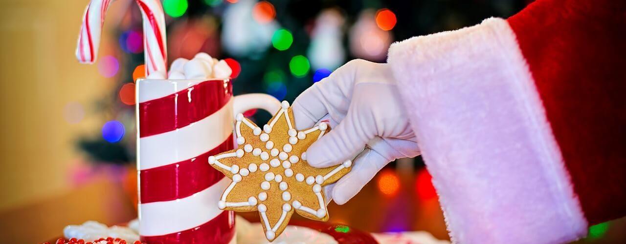 Печиво і молоко для Санта Клауса