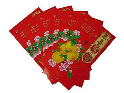 Подарунок на китайський новий рік - червоні конверти з грошима
