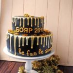 Двоярусний корпоративний торт Бояр