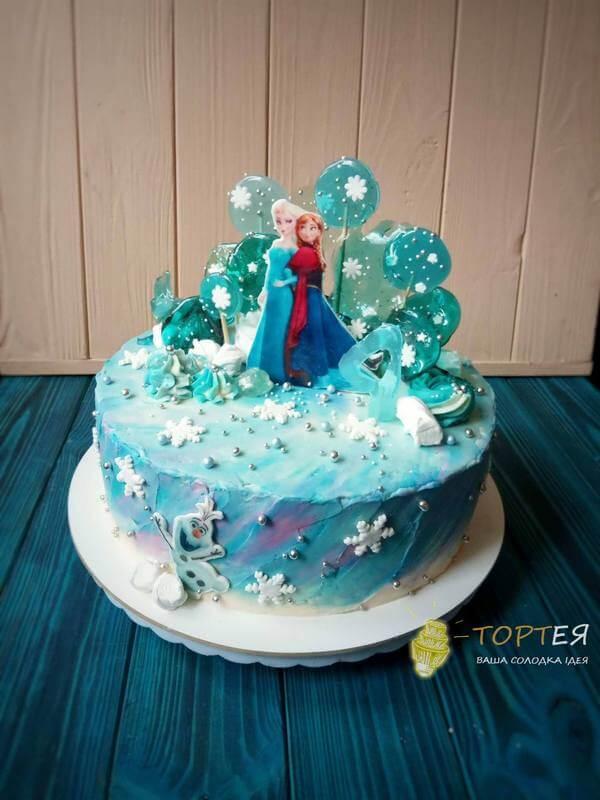Синій дитячий торт - Холодне серце