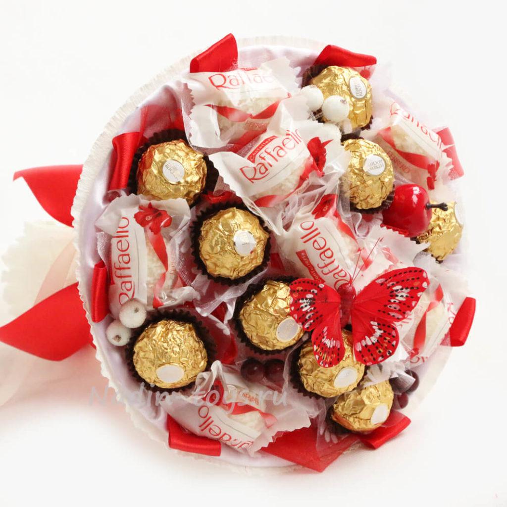 Букет з цукерок на 14 лютого