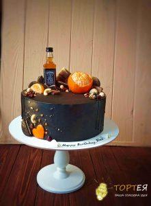 Чорний торт для чоловіка