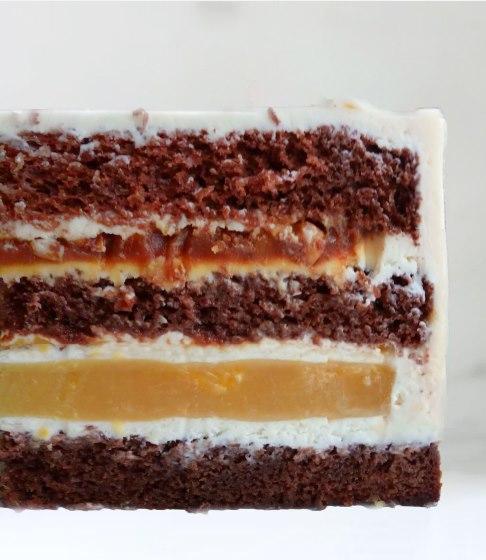 Шоколадно апельсинова начинка для торта