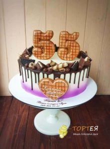Торт з пряниками на 55 років