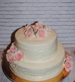Весільний кремовий торт