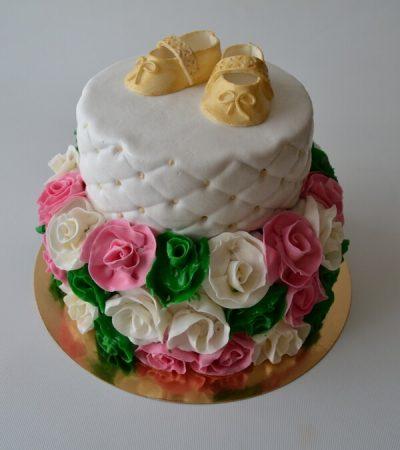 Тортик для дівчинки з квітами