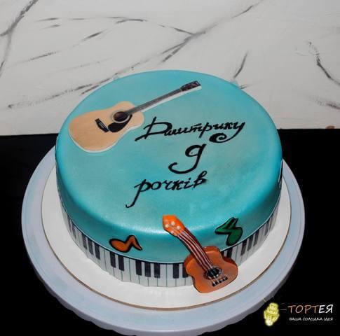 Дитячий торт для музиканта