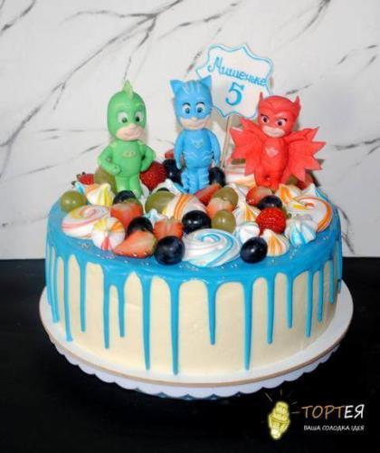 Дитячий торт Герої в масках