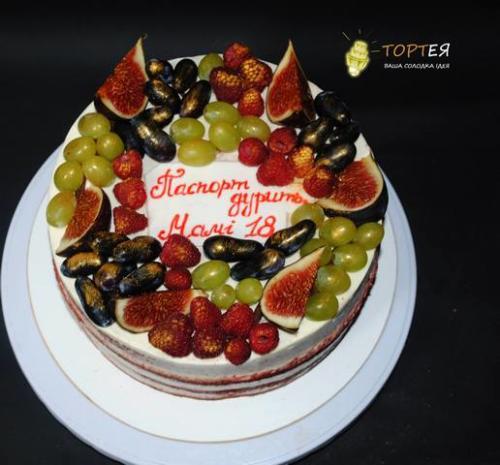 Фруктовий торт для мами