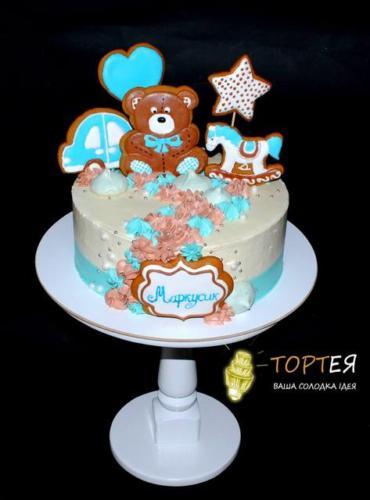 Кремовий торт з пряниками для хлопчика