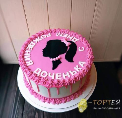 Рожевий дитячий торт для донечки