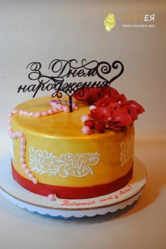 Торт для мами на ювілей