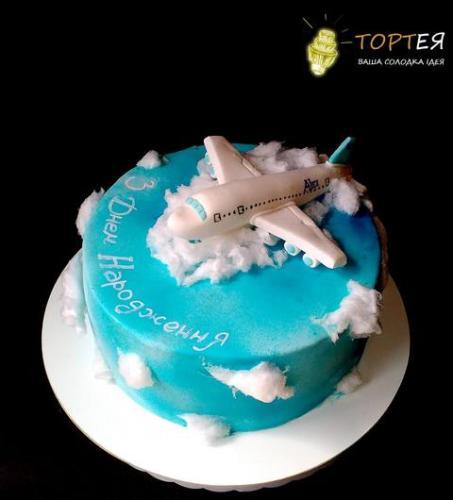 Торт із літаком для пілота