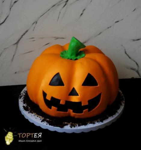 Торт гарбуз на хелловін