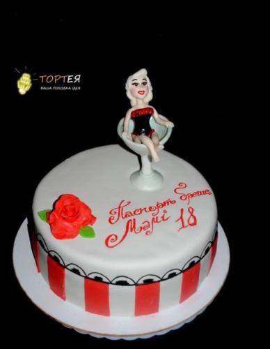 Торт леді в бокалі для мами