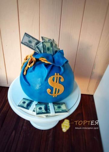 Торт мішок з грошима
