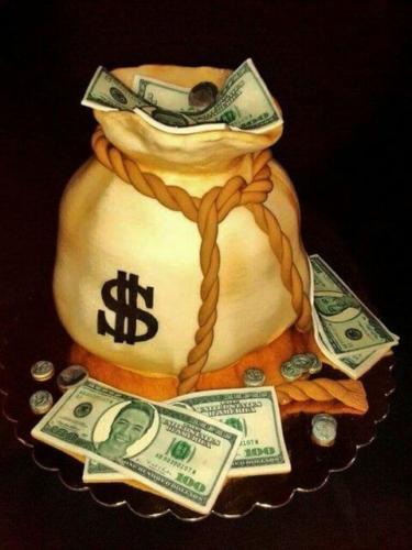 Торт мішок з грошима на 30 років