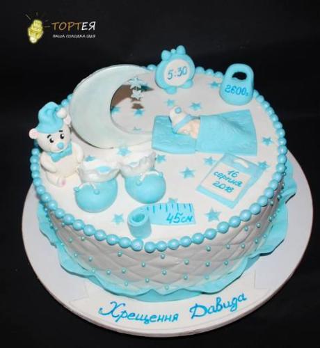 Торт на хрестини хлопчика